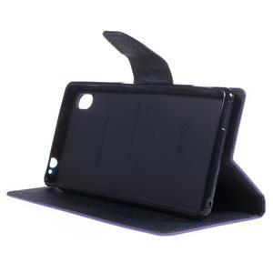 Ochranné puzdro pre Sony Xperia M4 Aqua - fialové/tmavomodré - 3