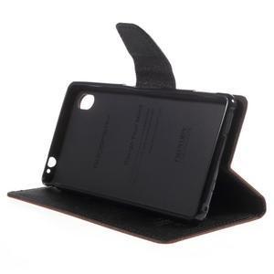 Ochranné puzdro pre Sony Xperia M4 Aqua - hnedé/čierne - 3