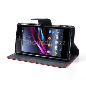 Fancy Peňaženkové puzdro pre mobil Sony Xperia Z1 - červené - 3