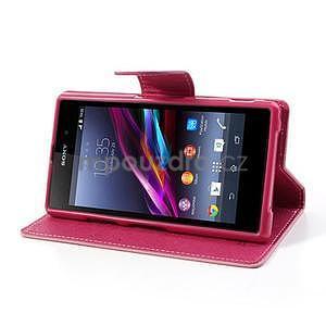 Fancy peněženkové pouzdro na mobil Sony Xperia Z1 - růžové - 3