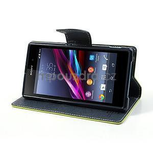 Fancy peněženkové pouzdro na mobil Sony Xperia Z1 - zelené - 3