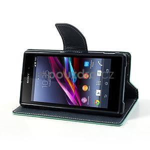 Fancy peněženkové pouzdro na mobil Sony Xperia Z1 - azurové - 3