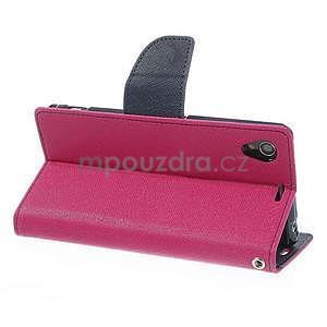 Fancy Peňaženkové puzdro pre mobil Sony Xperia Z1 - rose - 3