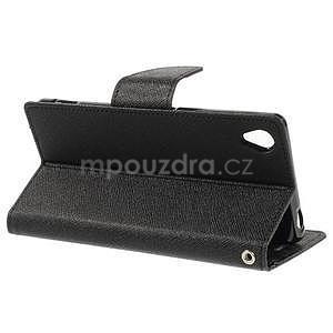 Peňaženkové puzdro pre mobil Sony Xperia Z3 - čierne - 3