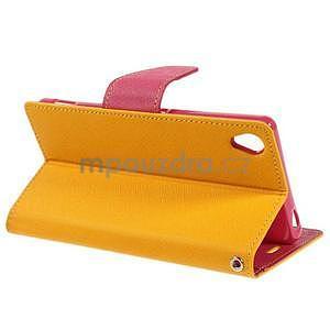 Peňaženkové puzdro pre mobil Sony Xperia Z3 - žlté - 3