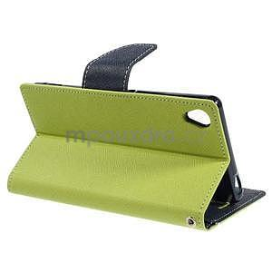 Peňaženkové puzdro pre mobil Sony Xperia Z3 - zelené - 3