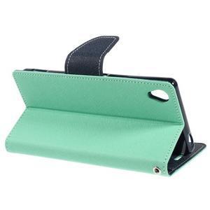 Peňaženkové puzdro pre mobil Sony Xperia Z3 - azurové - 3