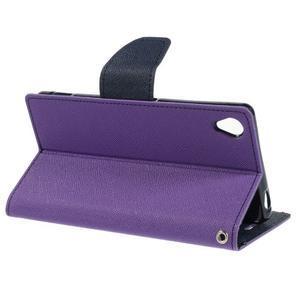 Peněženkové pouzdro na mobil Sony Xperia Z3 - fialové - 3
