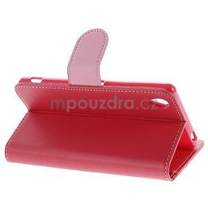 Koženkové pouzdro na Sony Xperia Z3 - červené - 3