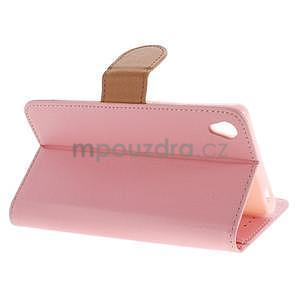 Koženkové puzdro pre Sony Xperia Z3 - ružové - 3