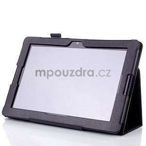 Koženkové puzdro pre tablet Lenovo A10-70 - čierne - 3