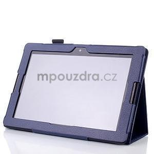 Koženkové puzdro na tablet Lenovo A10-70 - tmavomodré - 3