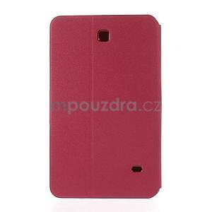 PU kožené puzdro pre tablet peňaženkové Samsung Galaxy Tab 8.0 4 -  magenta - 3