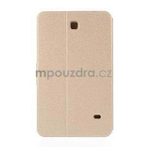 PU kožené puzdro pre tablet peňaženkové Samsung Galaxy Tab 8.0 4 - champagne - 3