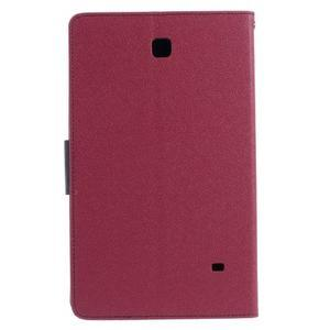 Rose peňaženkové puzdro Goospery na tablet Samsung Galaxy Tab 8.0 4 - 3