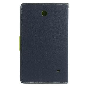 Modré peňaženkové puzdro Goospery pre tablet Samsung Galaxy Tab 8.0 4 - 3