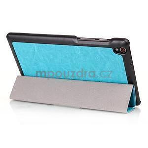 Svetlomodré puzdro na tablet Lenovo S8-50 s funkciou stojančeku - 3