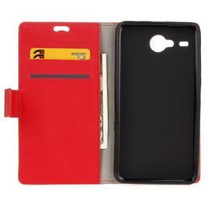 Gregory peněženkové pouzdro na Acer Liquid Z520 - červené - 3