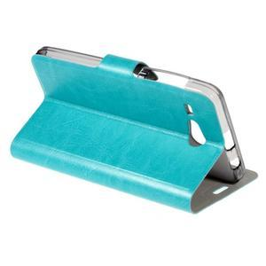 Horse peněženkové pouzdro na Acer Liquid Z520 - modré - 3