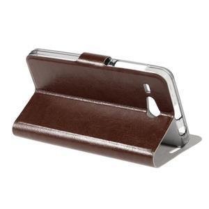 Horse peňaženkové puzdro pre Acer Liquid Z520 - hnedé - 3