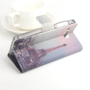 Lux peněženkové pouzdro na mobil Acer Liquid Z520 - malovaná dívka red - 3
