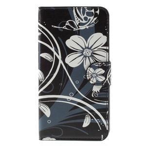 Nice koženkové puzdro pre mobil Acer Liquid Z520 - biele kvety - 3