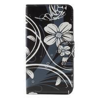 Nice koženkové puzdro pre mobil Acer Liquid Z520 - biele kvety - 3/7