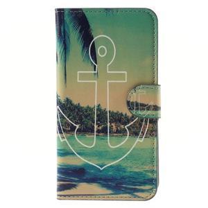 Nice koženkové puzdro pre mobil Acer Liquid Z520 - kotva - 3