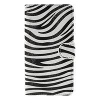 Nice koženkové puzdro pre mobil Acer Liquid Z520 - zebra - 3/7