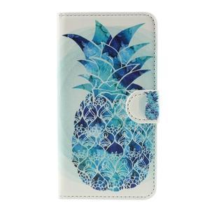 Nice koženkové puzdro pre mobil Acer Liquid Z520 - modrý ananas - 3