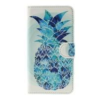 Nice koženkové pouzdro na mobil Acer Liquid Z520 - modrý ananas - 3/7