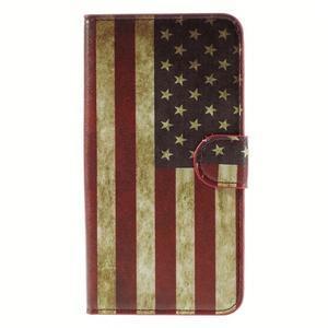 Nice koženkové puzdro pre mobil Acer Liquid Z520 - US vlajka - 3