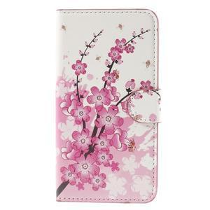 Nice koženkové puzdro pre mobil Acer Liquid Z520 - kvitnúca vetva - 3