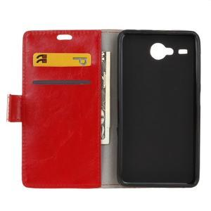 Stanley PU kožené puzdro pre Acer Liquid Z520 - červené - 3