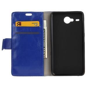 Stanley PU kožené pouzdro na Acer Liquid Z520 - modré - 3