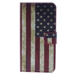 Valet peňaženkové puzdro pre Acer Liquid Z530 - US vlajka - 3