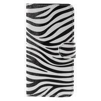 Valet peněženkové pouzdro na Acer Liquid Z530 - zebra - 3/7
