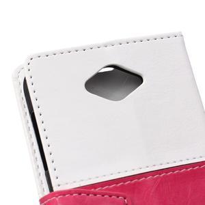 Lines PU kožené puzdro pre Acer Liquid Z530 - biele - 3
