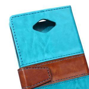 Lines PU kožené puzdro pre Acer Liquid Z530 - modré - 3