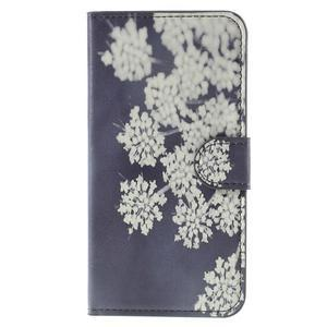 Valet peňaženkové puzdro pre Acer Liquid Z530 - kvitnúce kvetiny - 3