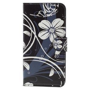Valet peňaženkové puzdro pre Acer Liquid Z530 - biely kvet - 3