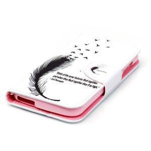 Luxy peňaženkové puzdro pre Acer Liquid Z530 - ptačí pierko - 3