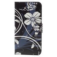 Valet peňaženkové puzdro pre Acer Liquid Z530 - biely kvet - 3/7