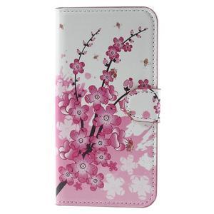 Valet peňaženkové puzdro pre Acer Liquid Z530 - kvitnúca vetvička - 3