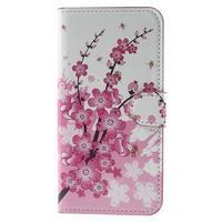 Valet peňaženkové puzdro pre Acer Liquid Z530 - kvitnúca vetvička - 3/6