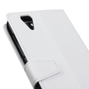 Leat PU kožené puzdro pre mobil Acer Liquid Z630 - biele - 3