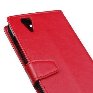 Leat PU kožené pouzdro na mobil Acer Liquid Z630 - červené - 3