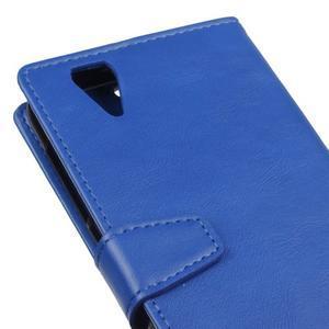 Leat PU kožené puzdro pre mobil Acer Liquid Z630 - modré - 3