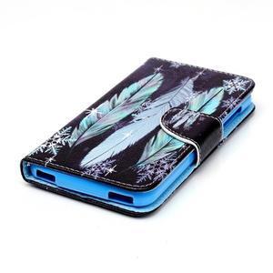 Peněženkové pouzdro na mobil Acer Liquid Z630 - peříčka - 3