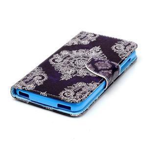 Peněženkové pouzdro na mobil Acer Liquid Z630 - retro květina - 3